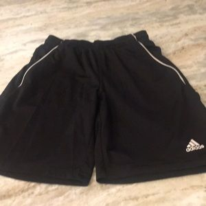 Boys Adidas athletic shorts.  Black, pockets